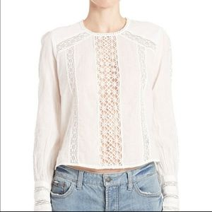 Free People without you lace inset crop top